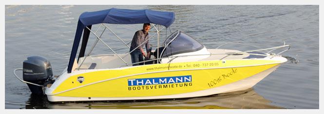 Motorboote und Yachten mieten bei THALMANN