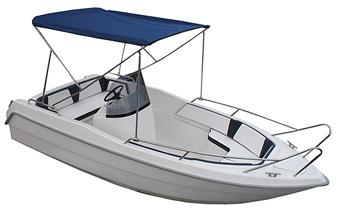 Necko 475 Motorboot / Angelboot mitv Bimini