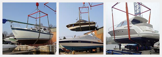 Flexible Krantermine für den Bootskran in Hamburg an der Dove-Elbe