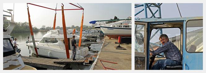 Kranen von Booten und Yachten bis 20 Tonnen in Hamburg an der Elbe
