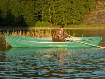 Das Ruderboot Terhi Saiman Hunter