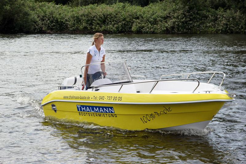 thalmann 15 ps f hrerscheinfreies motorboot galia 475 mieten. Black Bedroom Furniture Sets. Home Design Ideas