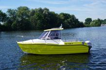 Necko 535 Motorboot mit 150 PS Außenborder